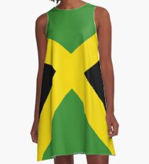 Jamaica Flag Mini Skirt Dress A-Line Dress