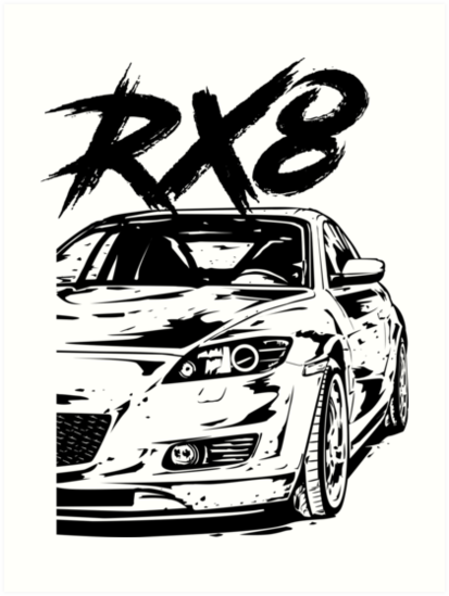 Rx8 Vfl Quot Dirty Style Quot Art Prints By Glstkrrn