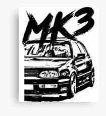 "Golf MK3 MK3 ""Dirty Style"" Canvas Print"