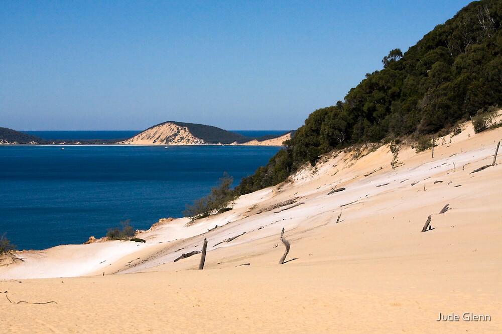 Carlo Sand Blow - Rainbow Beach by Jude Glenn