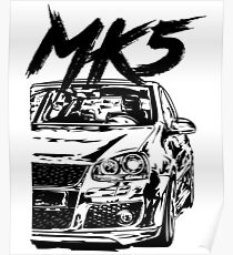 """Golf 5 MK5 """"Dirty Style"""" Poster"""