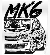 golf gti posters redbubble MK2 Beetle Stance golf 6 mk6 quot dirty style quot