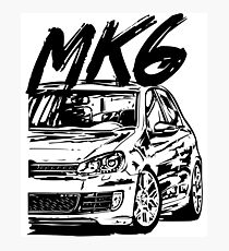 Golf 6 MK6 & quot; Dirty Style & quot; Photographic Print