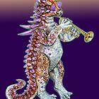 Jurassic Jazz - Ankylosaurus plays Trumpet by MissMusica