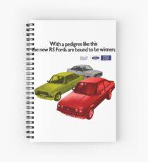 FORD ESCORT RS RANGE - 1976 MK2 Spiral Notebook
