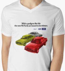 FORD ESCORT RS RANGE - 1976 MK2 Men's V-Neck T-Shirt