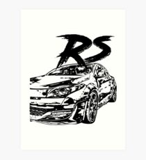 Megane RS VFL & quot; Dirty Style & quot; Art Print