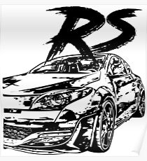 Megane RS VFL & quot; Dirty Style & quot; Poster