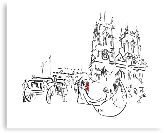Royal Wedding - William and Kate at Westminster Abbey by Douglas Rickard