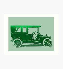 1909 Packard Limousine Green Pop Art Print