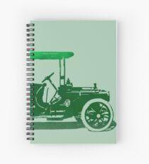 1909 Packard Limousine Green Pop Spiral Notebook