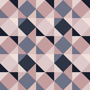 Pink and Navy Mosaic by FayeLangoulant