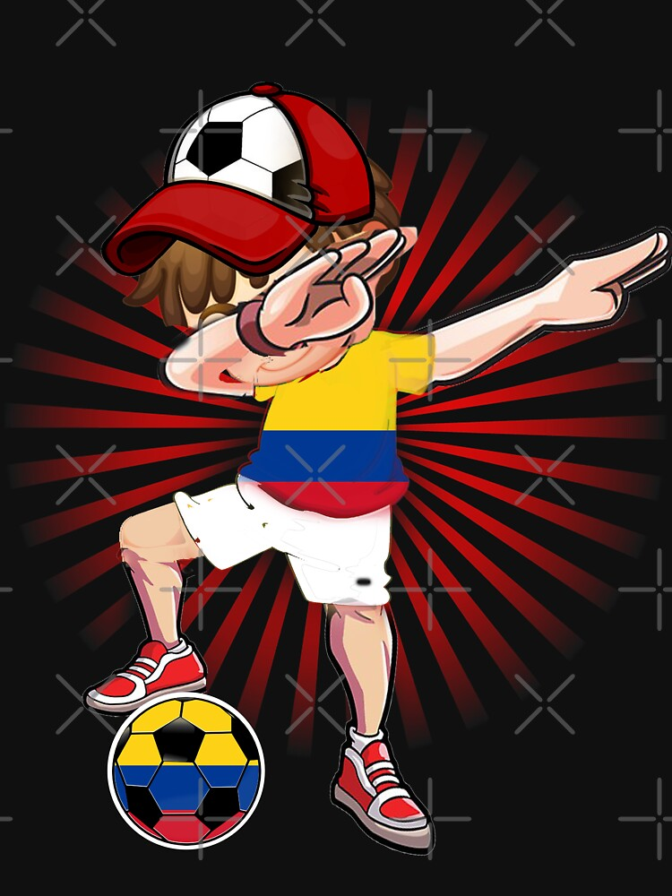 9e88e2cdcf206 Dabbing Soccer Boy Colombia Jersey Shirt Colombian Football | Women's  Fitted Scoop T-Shirt
