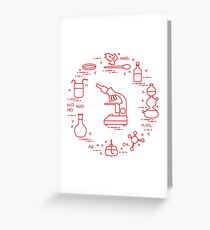 Chemistry scientific, education elements. Greeting Card