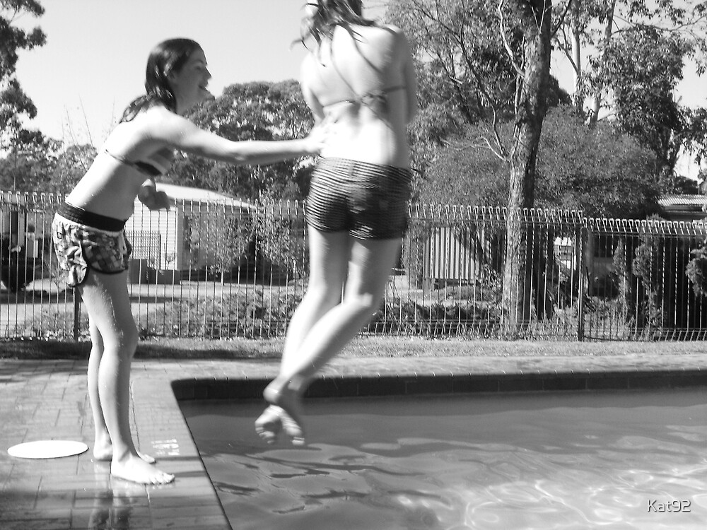 fun at the pool by Kat92