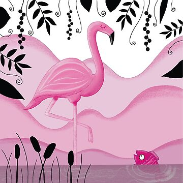 Pink flamingo by WACHtraum
