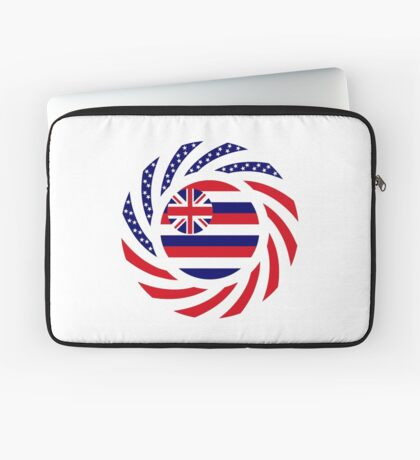 Hawaiian Murican Patriot Flag Series Laptop Sleeve