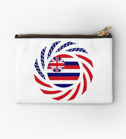 Hawaiian Murican Patriot Flag Series Zipper Pouch