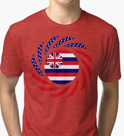 Hawaiian Murican Patriot Flag Series Tri-blend T-Shirt
