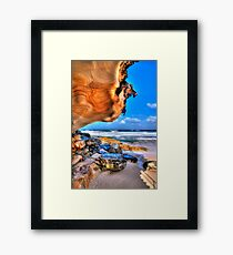 The writings on the wall Framed Print