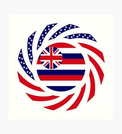 Hawaiian Murican Patriot Flag Series Art Print