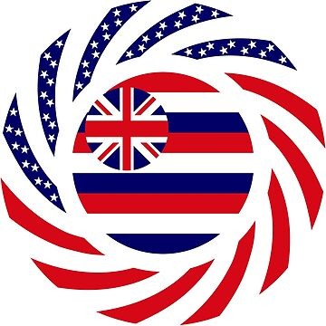 Hawaiian Murican Patriot Flag Series by carbonfibreme