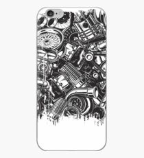 Car Parts Collage Car Enthusiast  iPhone Case