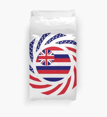 Hawaiian Murican Patriot Flag Series Duvet Cover