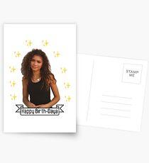 Zendaya - Happy Birth-Daya Greeting Card Postcards
