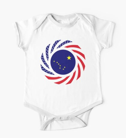 Alaskan Murican Patriot Flag Series Kids Clothes