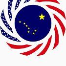 Alaskan Murican Patriot Flag Series by Carbon-Fibre Media