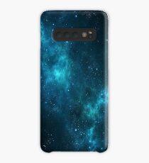 Deep Space Galaxy Blau iPhone & Samsung Phone Case Hülle & Klebefolie für Samsung Galaxy