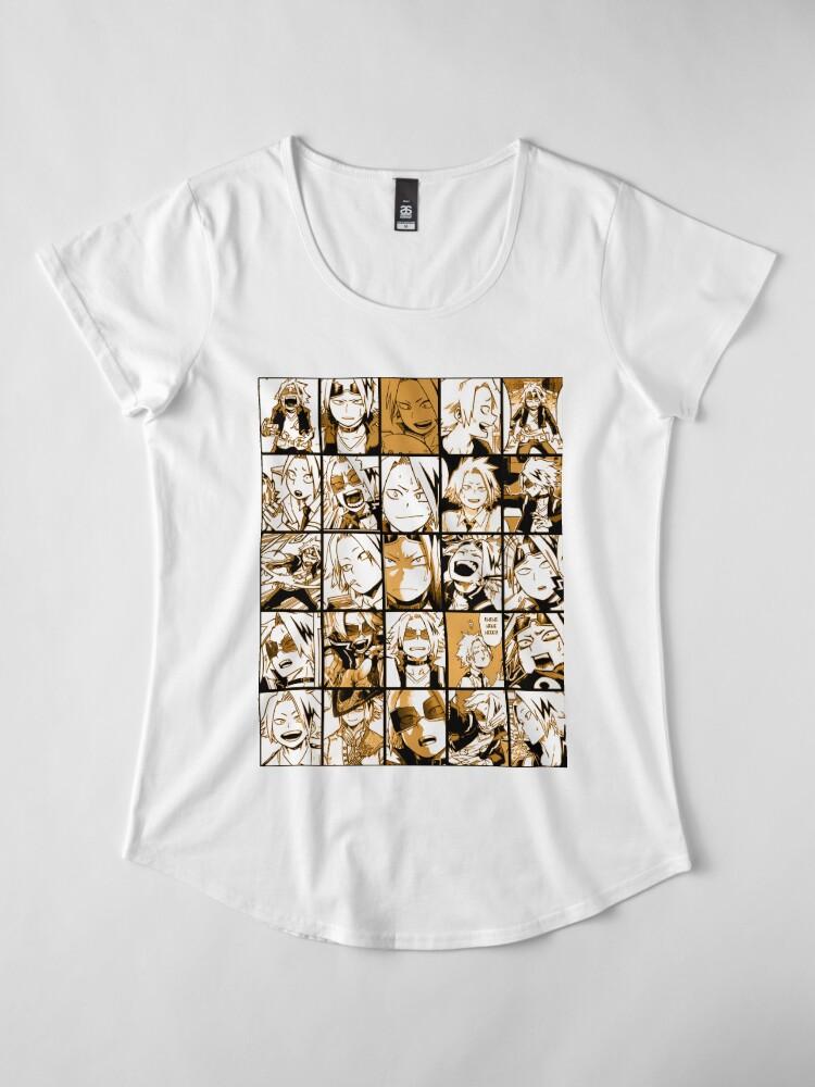 Alternative Ansicht von BNHA Kaminari Denki Collage Premium Rundhals-Shirt