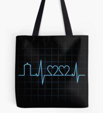 Two Heartbeats Tote Bag