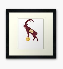 LeBron James Shirt | LeBron Goat | King James Crown Tshirt | Cleveland The Goat 23 | LBJ Shirt LeBron GOAT Framed Print