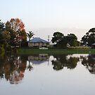 Dumaresq Island reflections by Graham Mewburn