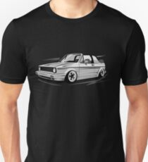 Golf 1 Convertible MK1 & quot; Low Style & quot; Unisex T-Shirt