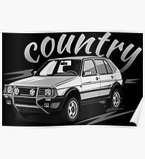 Golf 2 Country MK2 & quot; Low Style & quot; Poster