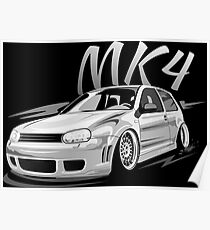 Golf 4 GTI MK4 R32 & quot; Low Style & quot; Poster