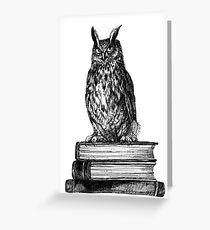Library owl  Greeting Card