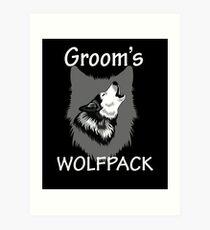 Groom's Wolf Pack Art Print