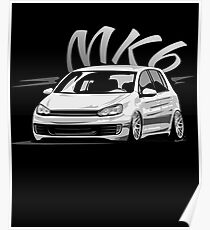 Golf 6 GTI MK6 & quot; Low Style & quot; Poster