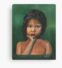 ISOLATION/Oil on canvas Canvas Print