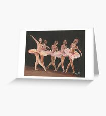 THE LITTLE PRINCESS IN PINK/Oil on canvas Greeting Card
