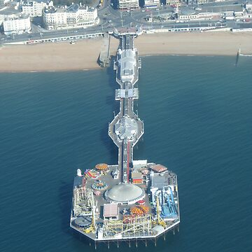 Brighton, UK - the pier (taken from a plane) by petrolblue