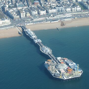 Brighton, UK - the pier (taken from a plane) side view by petrolblue