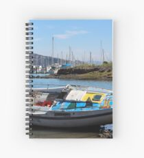 Bo's stuck boat Spiral Notebook