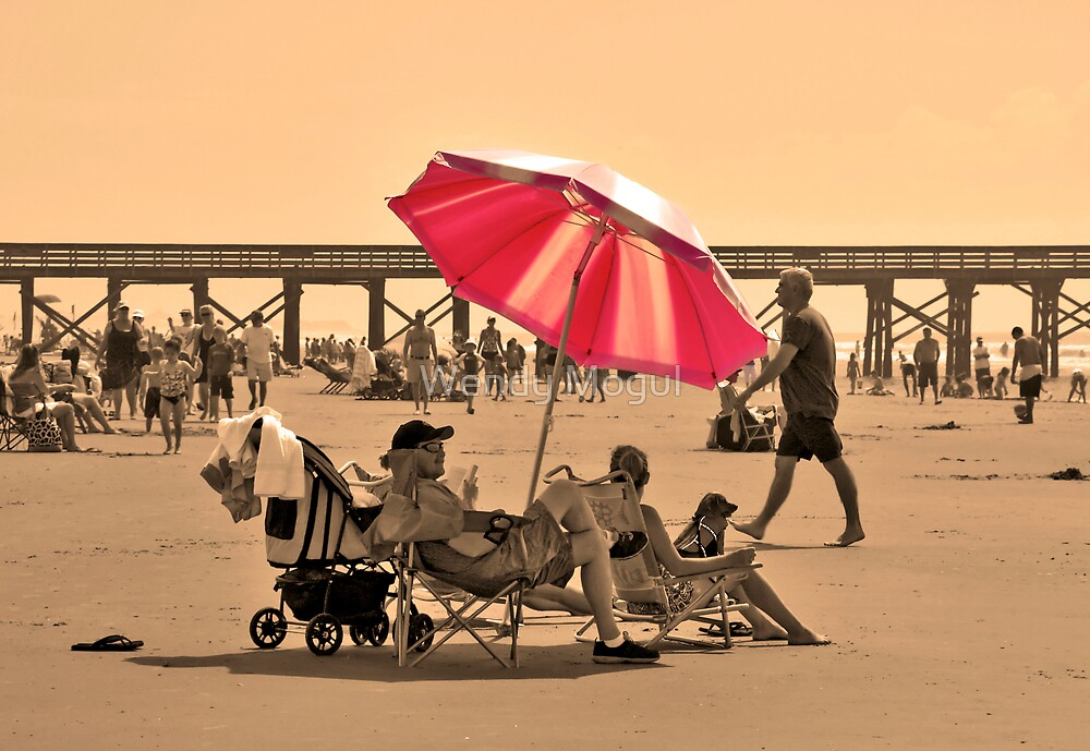 Day at the Beach by Wendy Mogul