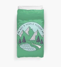 Not A People Person - Mountains Duvet Cover