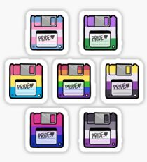 Pride Floppy Disk Set Sticker